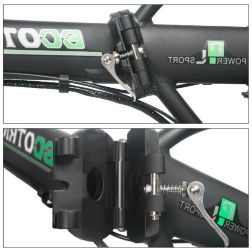 Folding 500W FatTire E Bicycle Ebike