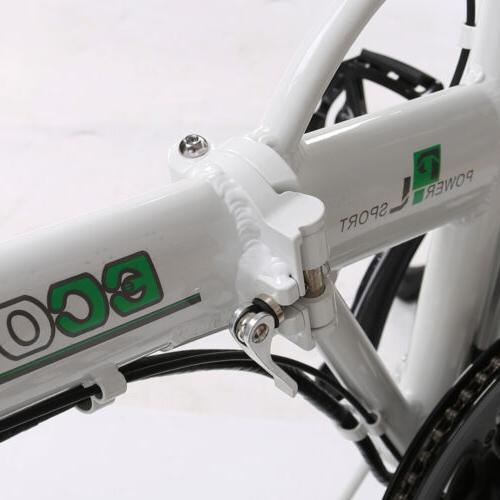 "Folding 20""500W Fat Tire Bicycle Snow City eBike"
