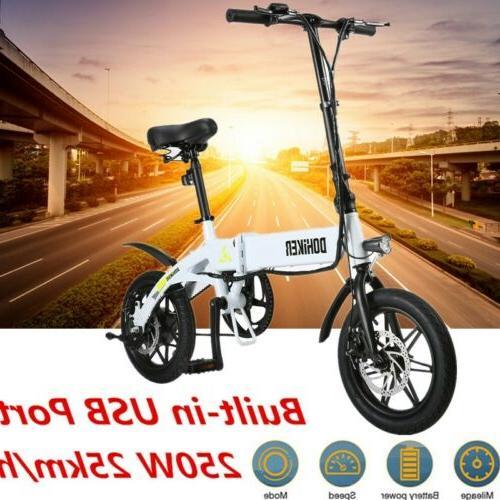 """Mini Electric Bike Two Wheels Bicycle 14"""" 36V 250W Adults Po"""