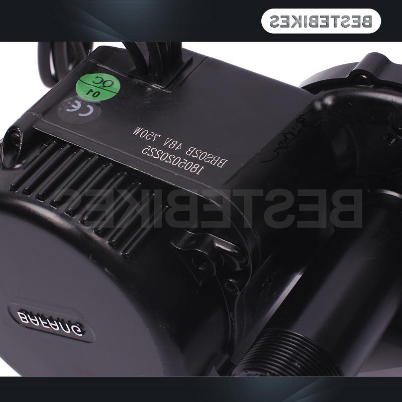 Bafang motor BBS02 48V 750w conversion kit battery