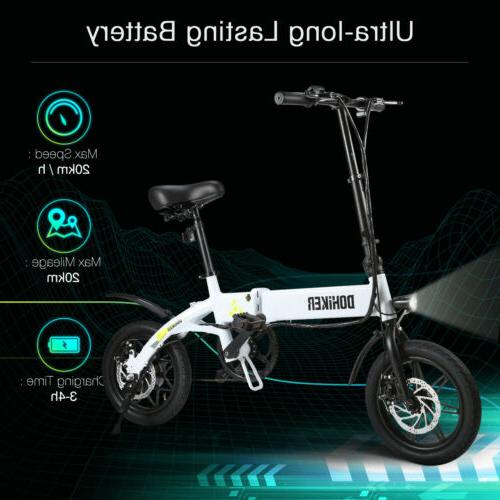 "Mini Electric Bike Bicycle 14"" 36V 250W Adults Portable Fold"