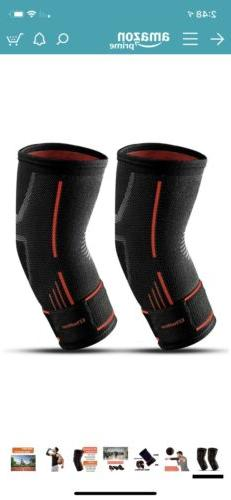 EZYoutdoor Support Compression Sleeves For Sports 2 Pcs Supp