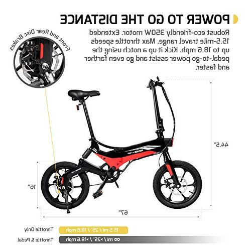 Swagtron Swagcycle Folding Bike, Wheels, Battery with Keylock & Rear Suspension