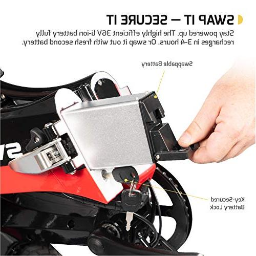 Swagtron Swagcycle EB-7 Folding Wheels, Keylock Rear Suspension