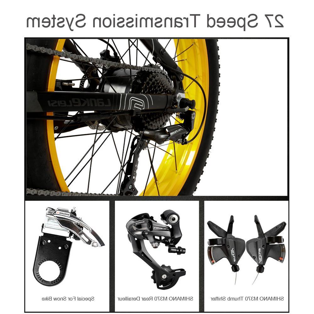 T750Plus Folding <font><b>Electric</b></font> <font><b>Bike</b></font>, 48V Li-ion Powerful Motor 5 Pedal Assist Sensor,Upgraded Fork