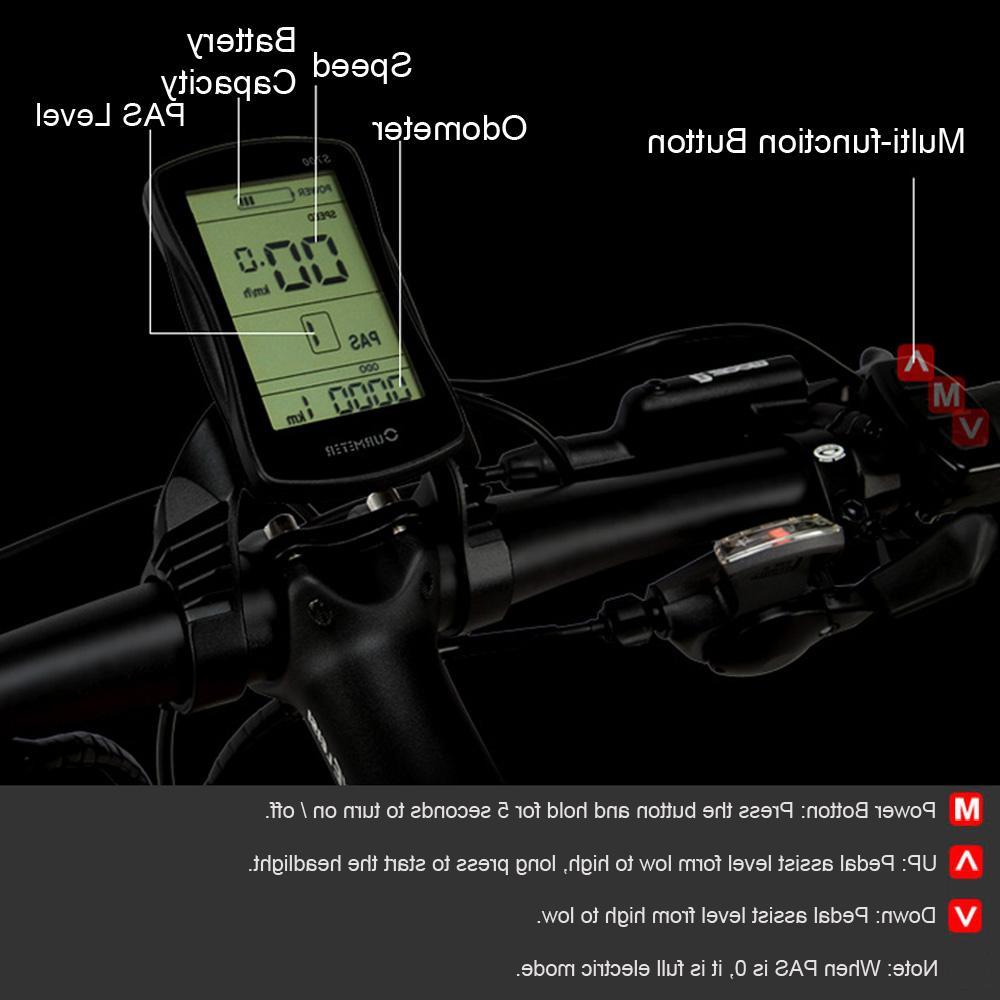 T750Plus Folding 48V 10A/14.5A Li-ion Battery,1000W Powerful Pedal Assist Sensor,Upgraded