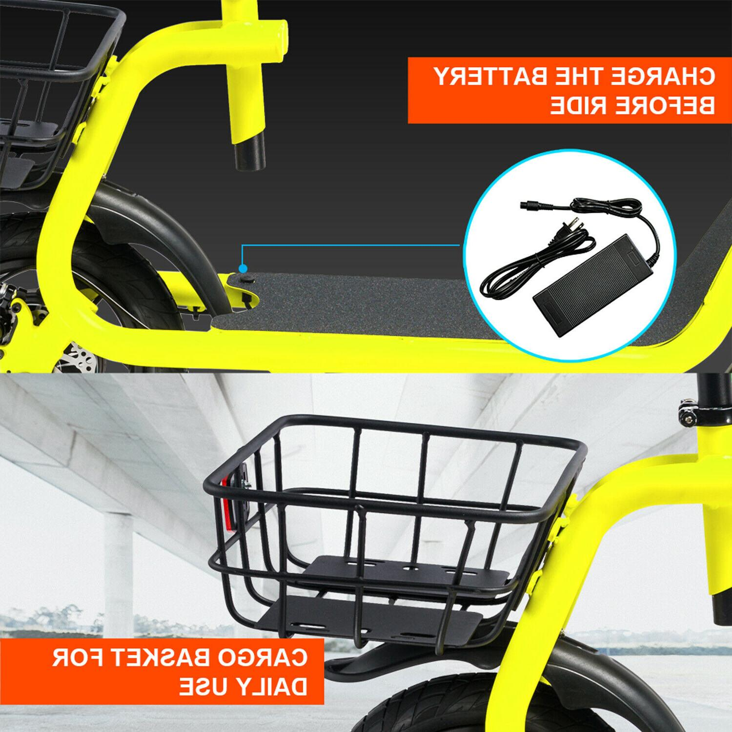 Electric Portable Bicycle 350W Lithium EBike Outdoors