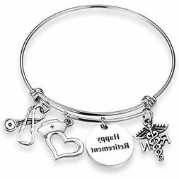 EIGSO Nurse Retirement Gift Happy RN Jewelry Employee Apprec