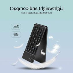 BEESCLOVER Portable Thin Bluetooth Folding Keyboard Foldable