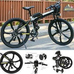 26'' Folding Electric Mountain city Bike Bicycle Ebike 250W