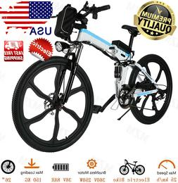Pro 26'' Folding Electric Mountain Bike Shimano 21Speed Gear