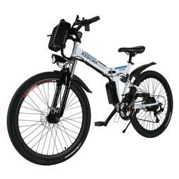 "ANCHEER 26"" Foldable Mountain Bike Electric Power Bicycle Da"